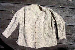 Aran Sweater - Aran Cardigan - typisch irisch