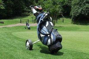 golftrolley test - golfwagen - caddy