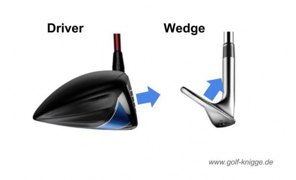 Golfschlag Driver Wedge