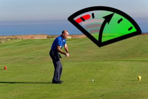 Golf Schlaegerkopfgeschwindigkeit
